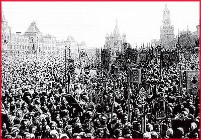 Красная площадь. Крестный ход. 17 век.