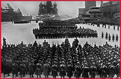 Красная площадь. Великая Отечественная война.
